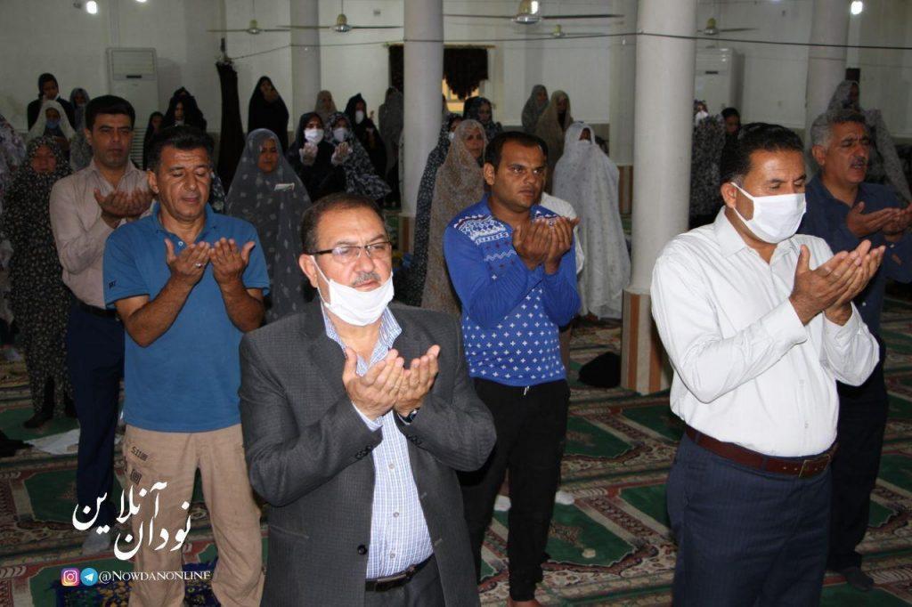اقامه نماز عید سعید فطر در نودان به روایت تصویر
