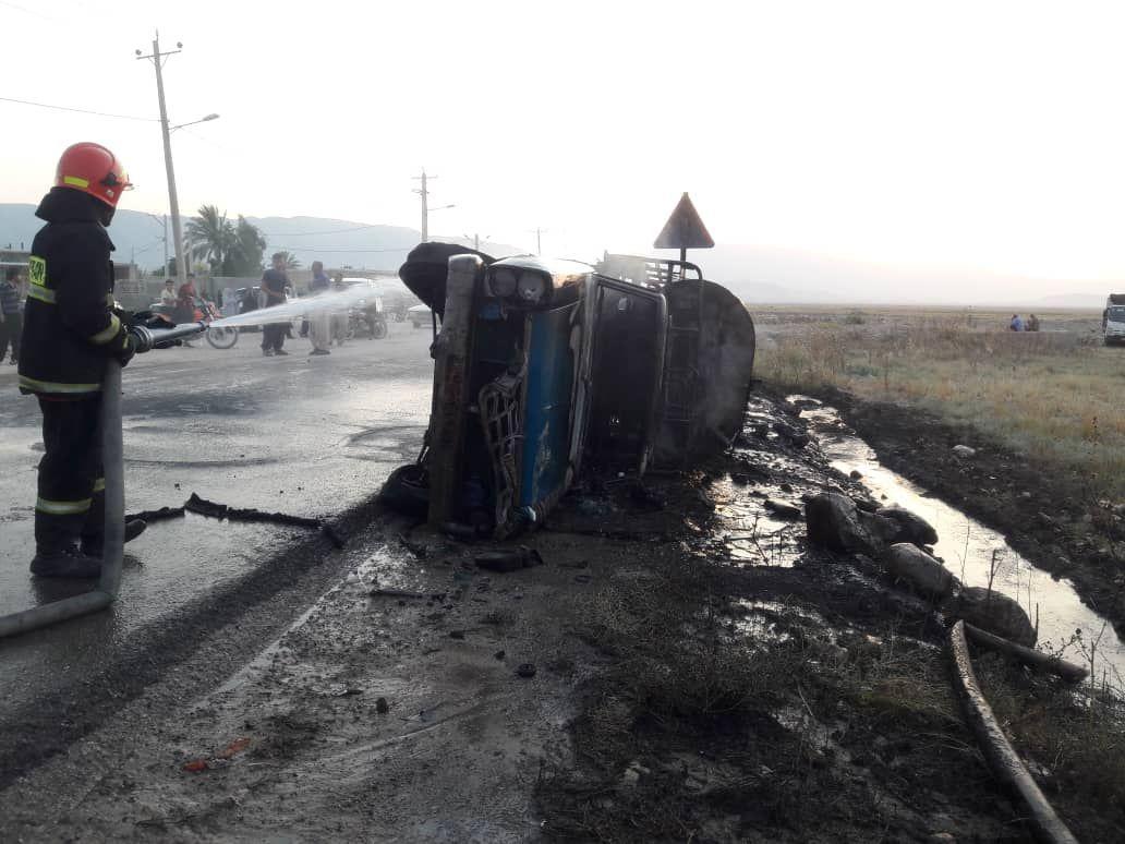 واژگونی خودرو در کازرون یک نفر را به کام مرگ کشید