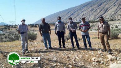 Photo of بازدید شرکت کنندگان در مناقصه عمومی پروژه احداث و تکمیل تغذیه مصنوعی پاپون