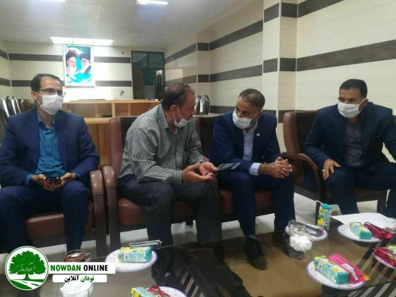 بررسی مشکلات بانک صادرات نودان با حضور مسئول حوزه بانک صادرات شهرستان های کازرون و کوه چنار