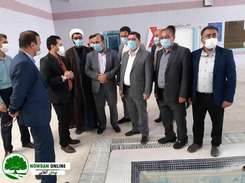 حضور مدیرکل ورزش و جوانان استان فارس در نودان جهت بازدید از پروژه های ورزشی + تصاویر