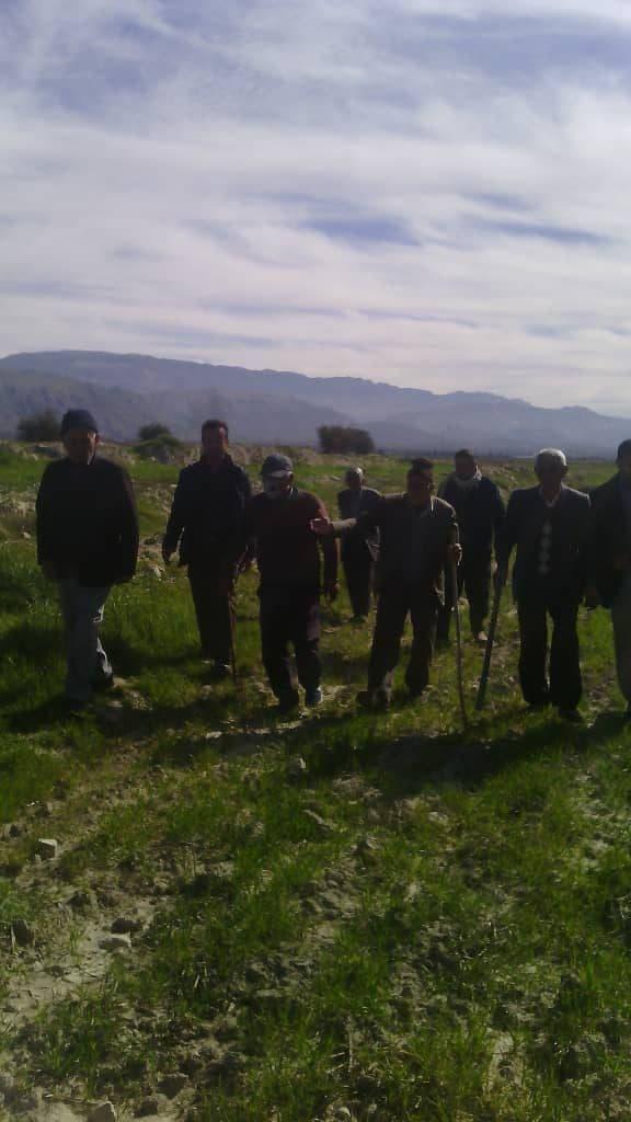 جلسه بازگشایی راه بین مزارع و اراضی کشاورزی نودان مشهور به راه بنکی با حضور مسئولین