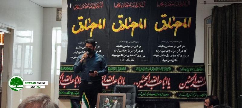 گزارش تصویری/برگزاری مراسم شهادت امام جعفر صادق (ع) در مهدیه شهید ناصری قائمیه