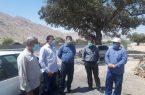 بازدید میدانی مدیر شهرسازی دفتر فنی استانداری فارس از شهر نودان